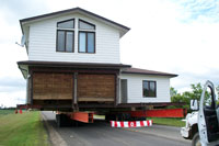 Two story house move